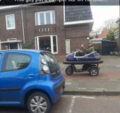 A Bumper Car On A Trike