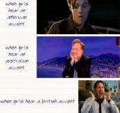Girls' Reactions To Accents