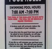Interesting Pool Rules
