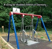 A Special Swing For Wheelchair Users