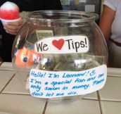 Tip Jar In Hawaii