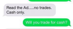 You Take Trades?