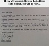 John Cleese Is Very Important
