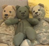 Mother Turns The Uniforms Of Fallen Soldiers Into Teddy Bears
