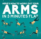 Work Out Your Arms In Only Three Minutes (4 Pics)