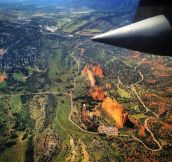 Garden of the Gods from a C-130