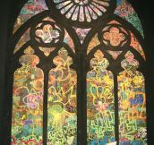 Banksy's Stained Glass