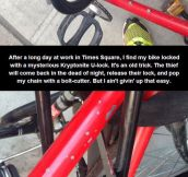 Stopping A Bike Thief