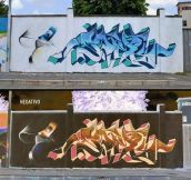 Negative Graffiti By Italian Artist Cheone
