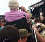 Crowd Surfing In A Wheelchair