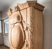 Beetle Cabinet That Turns Into An Owl When You Open It