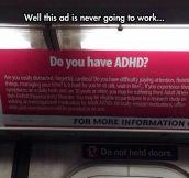 ADHD's Ad Irony