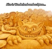 Incredible Sand Sculpture Of Alice In Wonderland