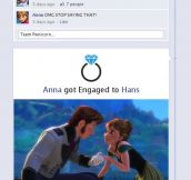 If The Characters From Frozen Had Facebook