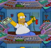 Homer Checks His Stocks