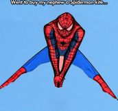 Awkward Spiderman Kite