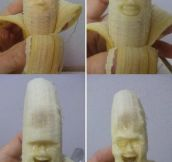 Making Banana Sculptures