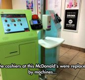 Cashiers Replacement At McDonald's