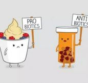 Probiotics Vs. Antibiotics Protesters