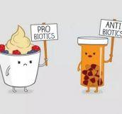 Probiotics Vs. Antibiotics Protesters