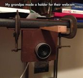 Grandpa's Webcam Holder