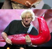 Guitars Replaced With Giant Slugs