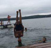 Breakdancing On The Lake