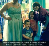Meeting Elsa From Frozen
