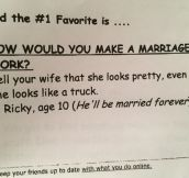 This Kid Knows What Marriage Is All About