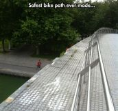 Bike Path In Parc De La Villette, Paris