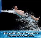 Ron Swanson Enjoying The Water Park