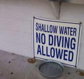 Warning: Shallow Water