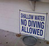 Warning: Shallow Water