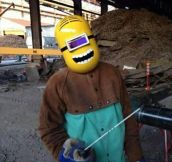Minion Welding Mask