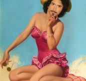 Robert Downey Jr. As Pin-Up Girls