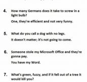 The 25 Best Two-Line Jokes Ever. #14 Is Priceless.