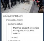 This is how you riot