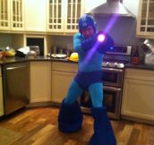 Amazing Homemade Mega Man Costume