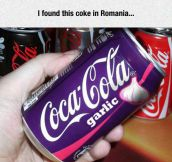 Soda Is A Little Different In Romania
