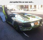Verde Scandal Lamborghini Aventador