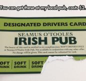 A Cool Idea To Help Designated Drivers