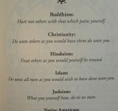 The Religion Golden Rule