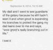 Groot Is Unamused