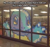 Library Post-It Note Art