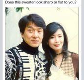 Jackie Chan Sweater Humor