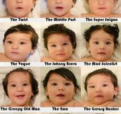 The Many Hair Styles Of A Baby Boy