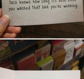 Don't Say A Thing, Taco