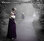 Sinister Wedding Photo