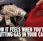 Putting Gas In Your Car These Days