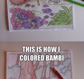 Coloring Bambi